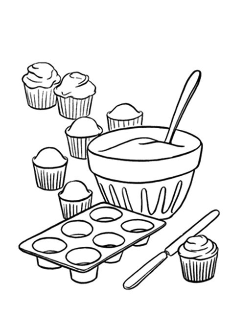 coloring pages of cakes and cupcakes cake and cupcake coloring sheets for kids coloring pages