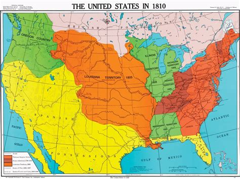 us history map united states in 1810 u s history map