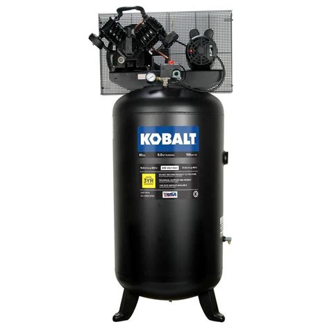 kobalt  gallon electric vertical air compressor  lowescom