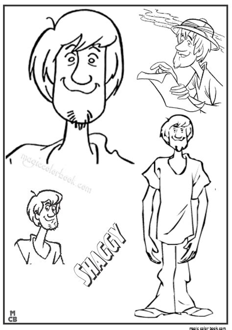 And Shaggy Coloring Pages Shaggy Coloring Page