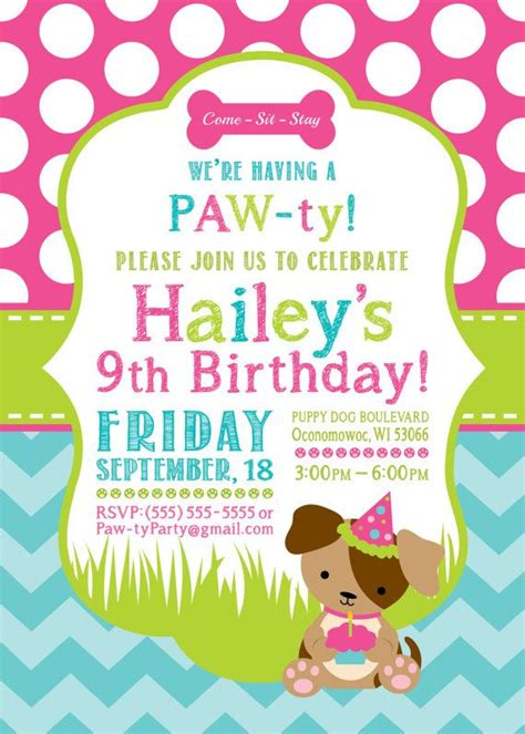 puppy invitations 1216 best images about birthday on