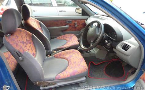 Nissan Micra K11 Interior by Galerie Des Grauens Geschmacksbefreite Stoffmuster Car