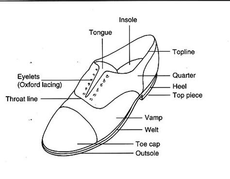 parts of shoes diagram all about shoes the anatomy of the shoe
