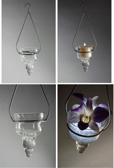 Hanging Candle Holders by Glass Cone Hanging Candle Holder