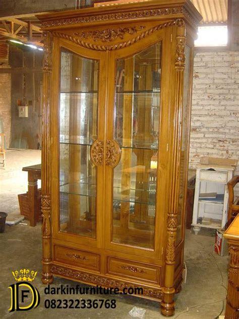 Furniture Antik Rak Atau Lemari Pajangan Lesung Kayu Jati H 5 lemari pajangan kayu jati lemari pajangan jati dakin furniture