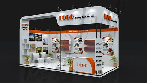 design mini booth exhibition booth design on behance