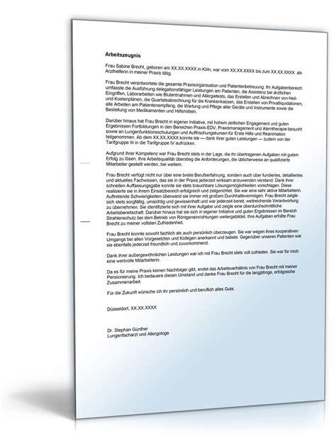 Anschreiben Qualifiziertes Arbeitszeugnis Arbeitszeugnis Quot Gut Quot Arzthelferin