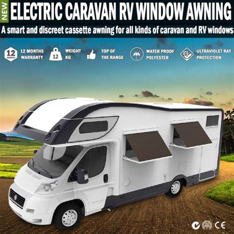 electric awnings for caravans electric caravan rv window awning remote 2m wide italian