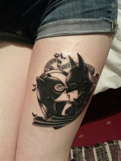 batman pin up tattoo catwoman batman tattoos pinterest catwoman woman