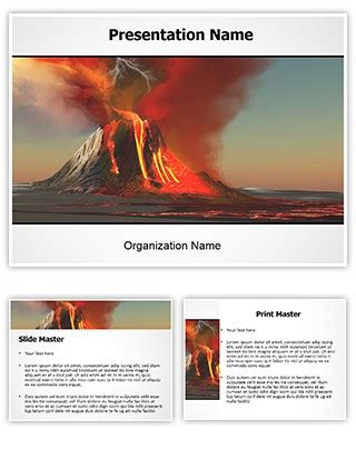 powerpoint themes volcano professional volcano editable powerpoint template