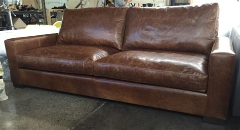 90 Inch Sofa Napa Leather Sofa Contemporary Sofas By