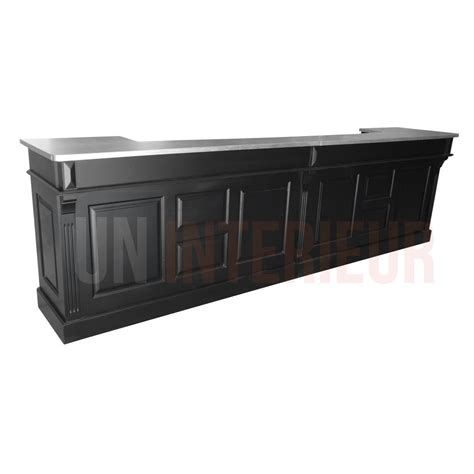 largeur comptoir bar meuble bar d accueil 360cm mobilier h 244 tel restaurant chr