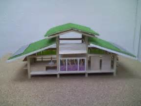 green roof design ideas in miniature house design