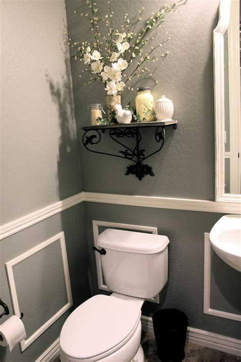 Half Bathroom Ideas by Bit Of Paint Thrifty Thursday Bathroom Reveal