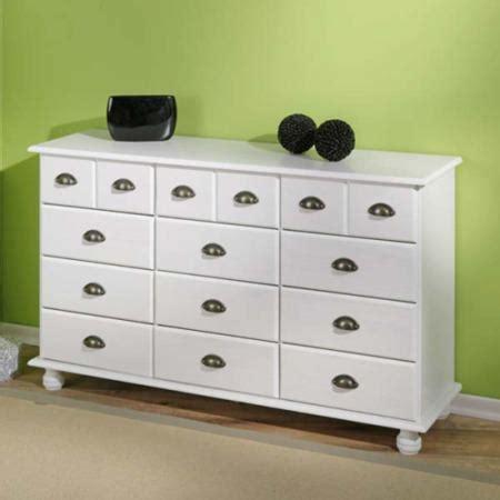 kommode weis interlink tucker solid pine white pine 9 6 drawer