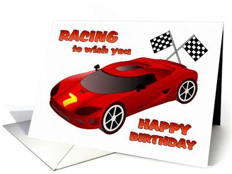 Race Car Birthday Card happy 7th birthday race car birthday card 1089726