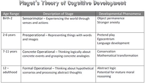 cognitive biography definition image gallery piaget s theory