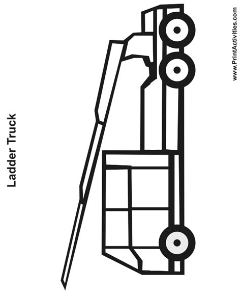 ladder truck coloring page free coloring pages of logging truck