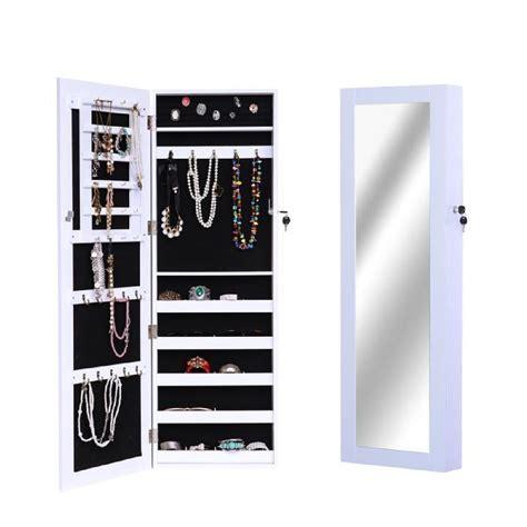 armoire à bijoux blokker armoire 224 bijoux rangement avec miroir et serrure murale