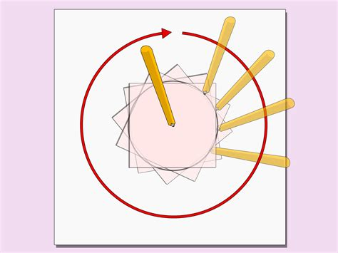 How To Make A Circle With Paper - how to draw a circle with just paper and pencils 6 steps