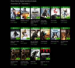 xbone one black friday xbox live black friday deal week games from 163 2 99