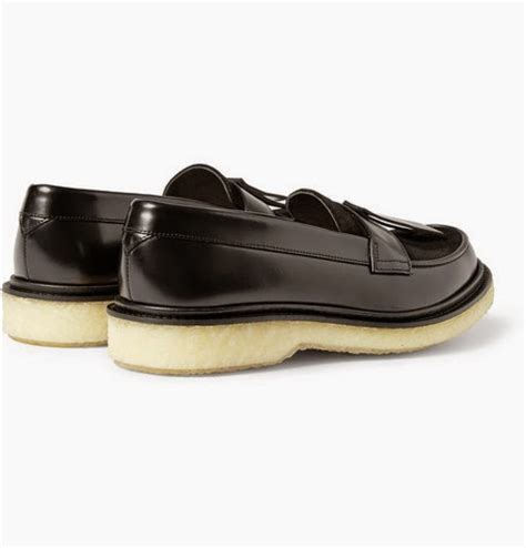 crepe sole loafers seasonal bonjour adieu type 32 crepe sole leather loafers