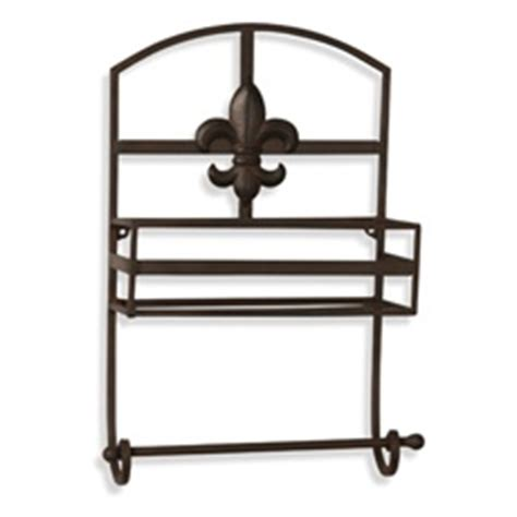 this fleur de lis metal wall shelf this towel bar from