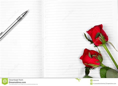 Pen Paper Kiky Envelope pen on empty note book stock photo image 20659190