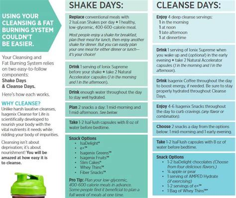 Isagenix Detox Schedule by Isagenix Cleanse Schedule