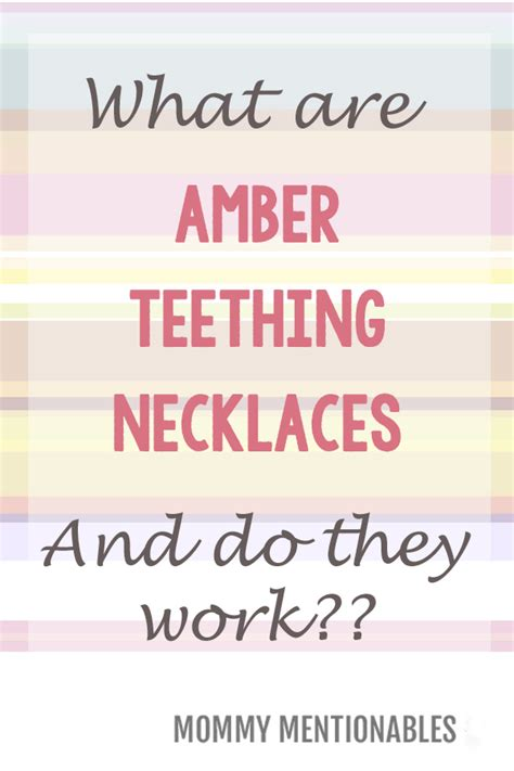 how do teething work what are teething necklaces and do they work