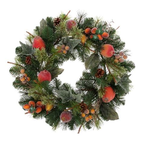 wreath with fruit from tesco christmas wreaths