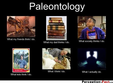 What I Do Meme - quot paleontology what my friends think i do what my dad