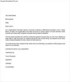 how to write a donation request letter template how to write a donation request letter exles cover