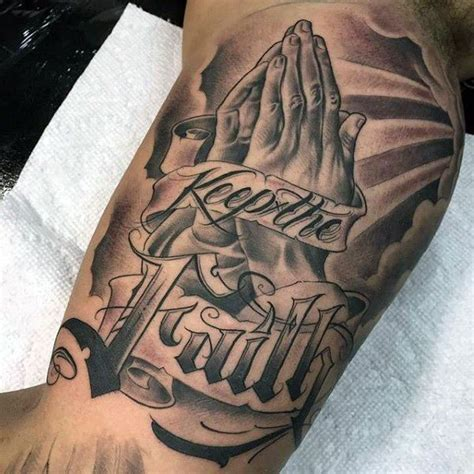 dope cross tattoos 70 praying designs for silence the mind