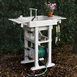 Outdoor garden sink station images