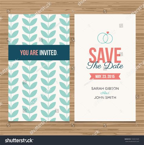 date card templates wedding card invitation template editable pattern stock