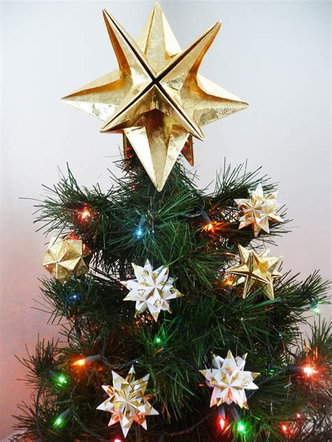 Origami Tree Topper - papyrus origami tree topper gold classic