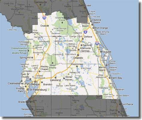 central florida map of central florida orlando pictures to pin on pinsdaddy