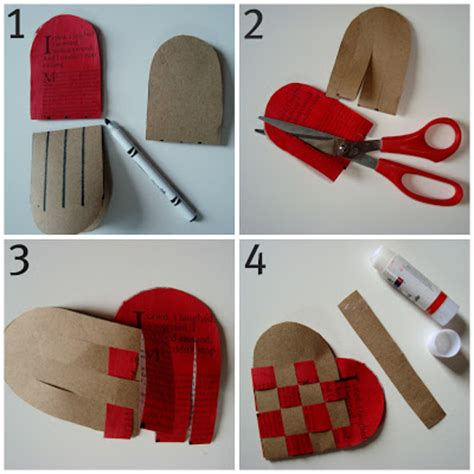 How To Make Woven Paper Hearts - made woven hearts modernizing a classic
