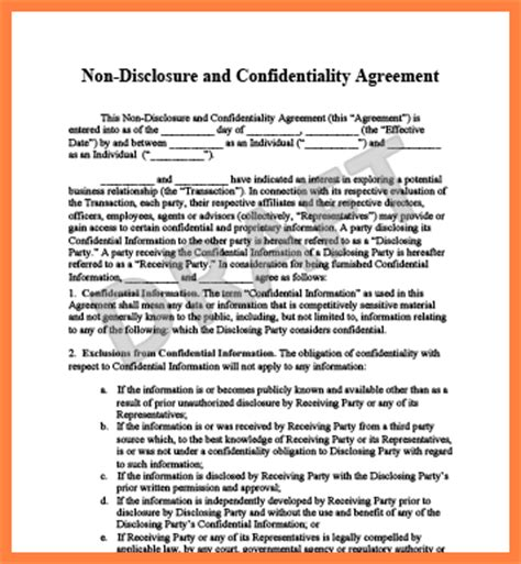 confidentiality and non compete agreement template 10 confidentiality agreement template south africa