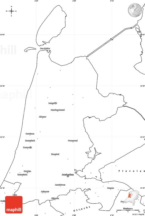 netherlands map blank blank simple map of noord