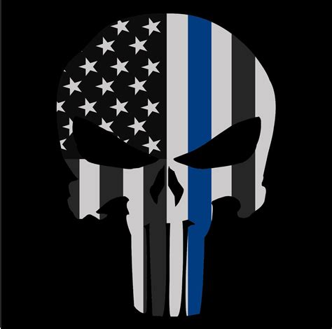 south carolina tattoo laws punisher skull thin blue line american flag decal