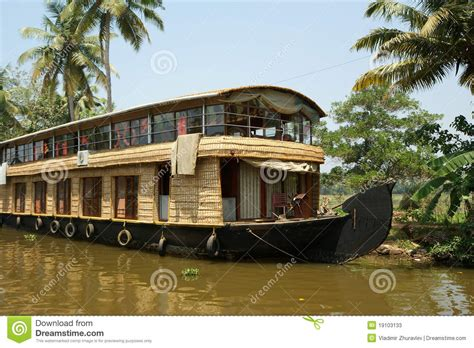 kerala india boat house house boat in the kerala india backwaters stock photos