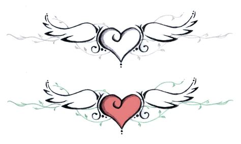 imagenes de corazones para tatuajes dibujos de corazones con alas chidos para tatuajes