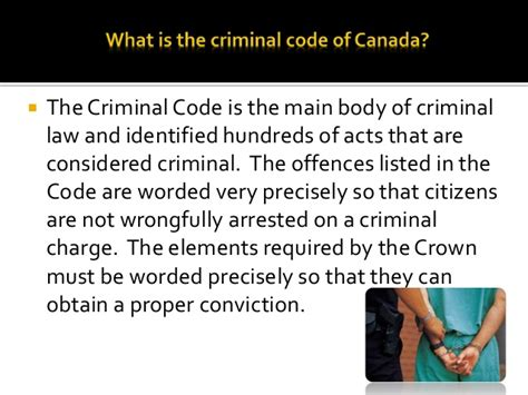Consequences Of A Criminal Record In Canada The Criminal Code Of Canada