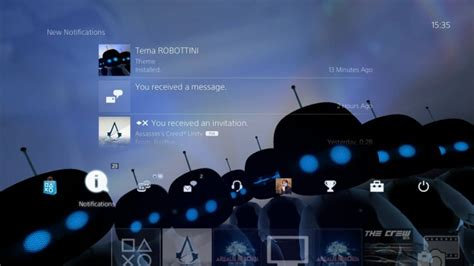 themes ps4 uk ps4 gets new ar bots free dynamic theme and it s super