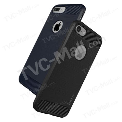 Carbon Fiber Ipaky Zenfone Live Softcase Tpu 1 ipaky brushed tpu drop proof for iphone 7 with carbon fiber decorated black tvc mall