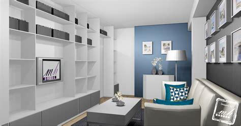Deco Bleu Et Gris by Interieur Maison Ton Gris