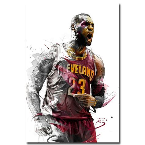 sport witness on twitter brilliant cartoon from l equipe was it lebron james basketball silk poster wall art canvas print