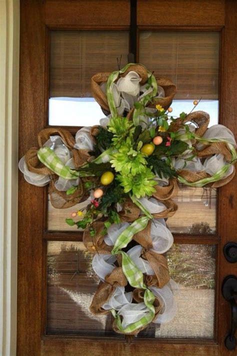 burlap mesh door wreath outdoor decor for the home